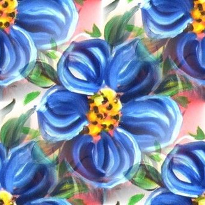 blue_painted_flower