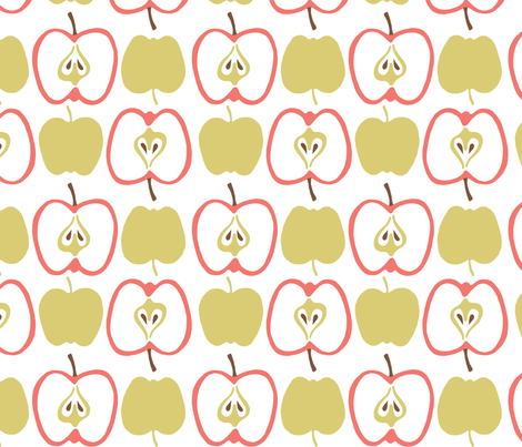 Apples fabric by alisontauber on Spoonflower - custom fabric