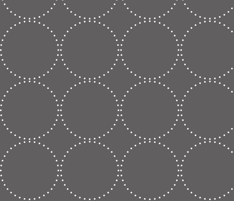 Cameo Nursery Grey Dots fabric by natitys on Spoonflower - custom fabric