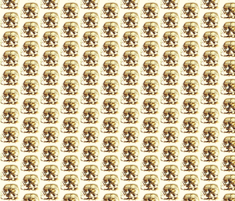 da_vinci_skull_sketch fabric by tequila_diamonds on Spoonflower - custom fabric