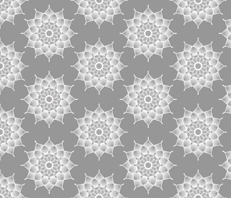 White_Medallion fabric by joanmclemore on Spoonflower - custom fabric