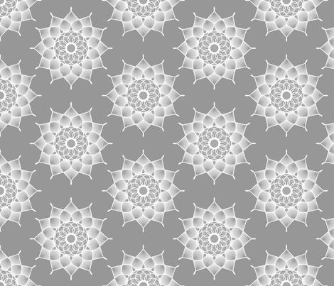 White_Medallion fabric by joanmclemore on Spoonflower - custom fabric