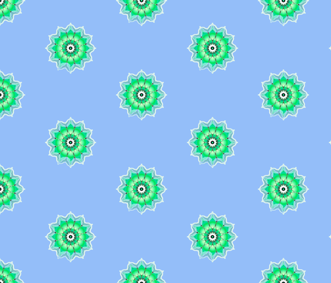 Floral green  fabric by joanmclemore on Spoonflower - custom fabric