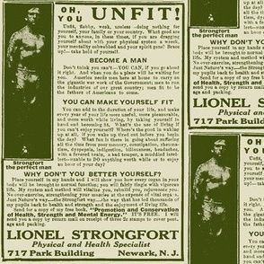 Oh You Unfit, Flabby, Weak Do-Nothing Man 1918 Ad
