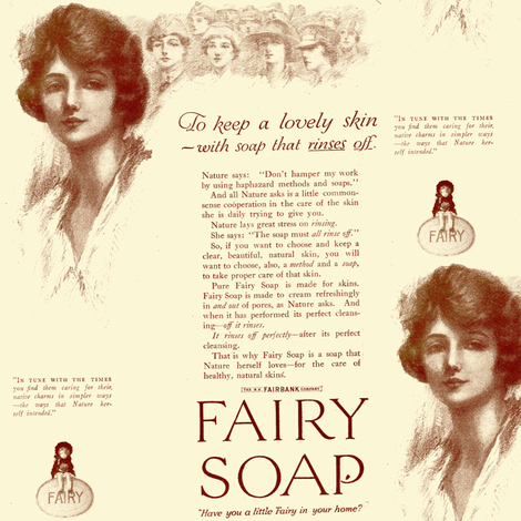 1918 Fairy Soap advertisement fabric by edsel2084 on Spoonflower - custom fabric