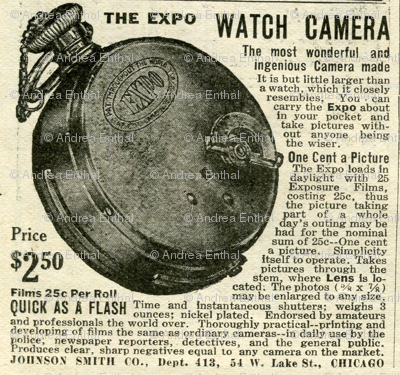 1918 Pocket Watch Camera advertisemen