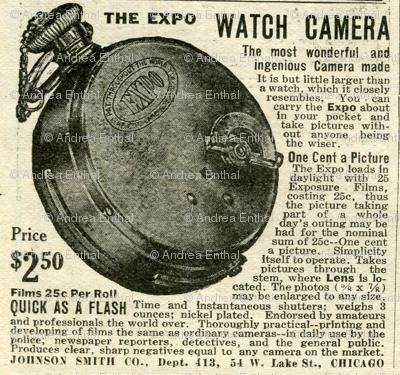 1918 Pocket Watch Camera advertisemen