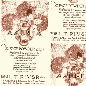 1918 Azurea Face Powder advertisement