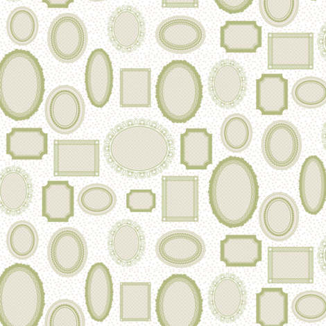 FRAMES_in_green fabric by natasha_k_ on Spoonflower - custom fabric