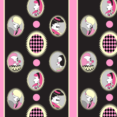 vintage circus cameo stripe fabric by beesocks on Spoonflower - custom fabric