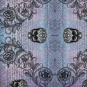 Diamond Skull Rose (Lavender-Blue)