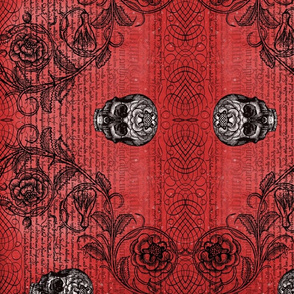 Diamond Skull Rose (Red)