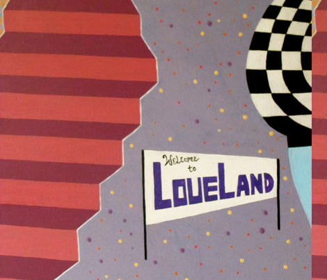 love land sign fabric by jasmine_mansbridge on Spoonflower - custom fabric