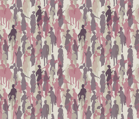 Ladies and Gentlemen fabric by littlelinden on Spoonflower - custom fabric