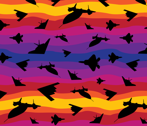 Stealth Sunset fabric by robyriker on Spoonflower - custom fabric