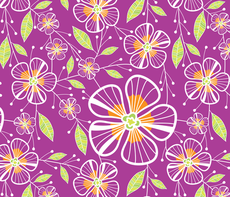 A Pink Bouquet fabric by robyriker on Spoonflower - custom fabric