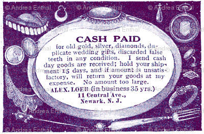 1918 We Buy Used False Teeth ad