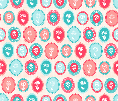 Kitsch Cameo Flora fabric by babysisterrae on Spoonflower - custom fabric