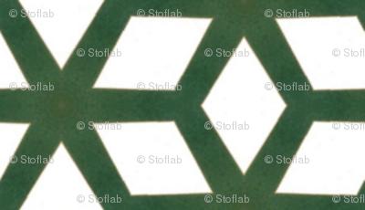 Vintage Green & White Cubes