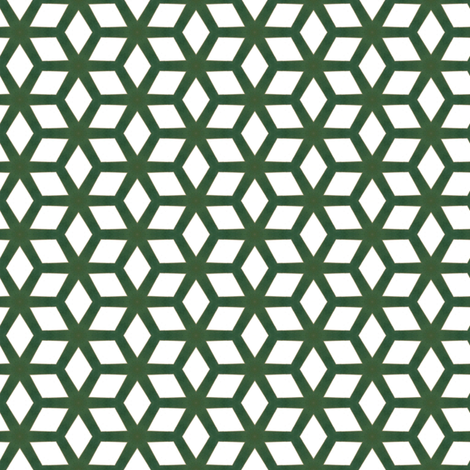 Vintage Green & White Cubes fabric by stoflab on Spoonflower - custom fabric