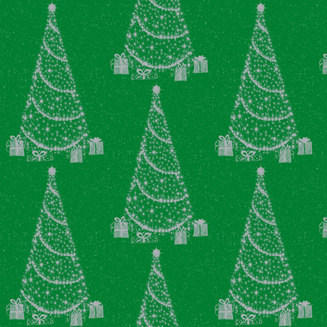 xmas tree green fabric by paragonstudios on Spoonflower - custom fabric