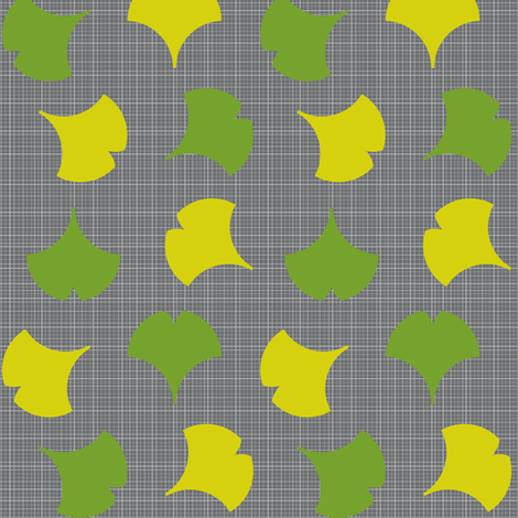 Spring Ginkgo 1B fabric by nekineko on Spoonflower - custom fabric