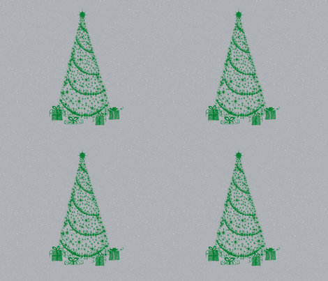 xmas tree fat Q silver tinsel fabric by paragonstudios on Spoonflower - custom fabric
