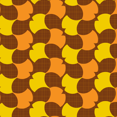 Autumn Ginkgo 2A fabric by nekineko on Spoonflower - custom fabric