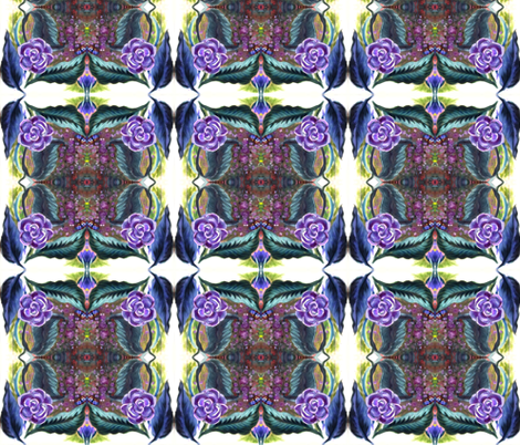 purple_painted_flower_tiled fabric by vinkeli on Spoonflower - custom fabric