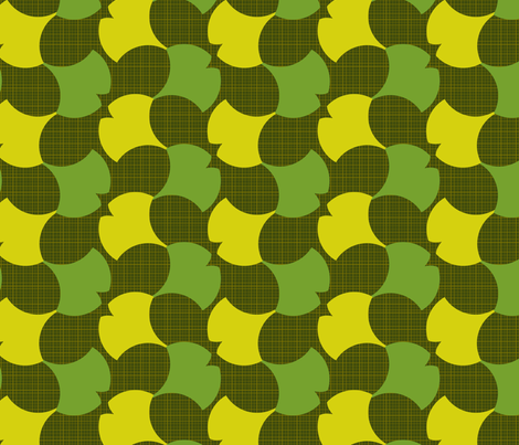 Spring Ginkgo 2A fabric by nekineko on Spoonflower - custom fabric