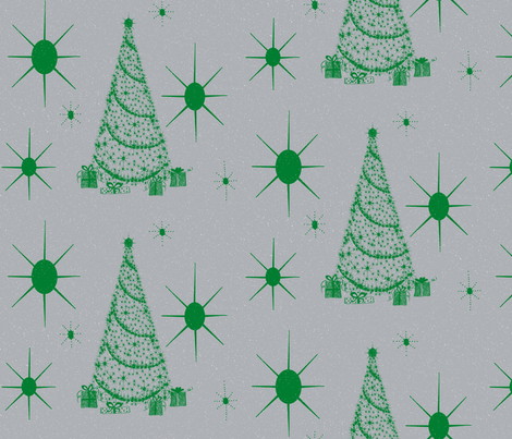 xmas star silver tinsel fabric by paragonstudios on Spoonflower - custom fabric