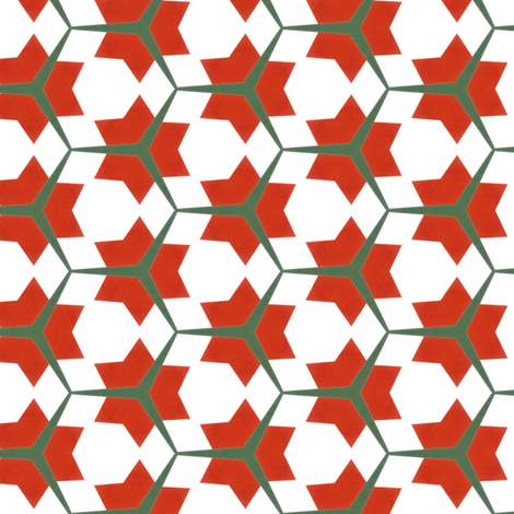 Vintage Red Stars fabric by stoflab on Spoonflower - custom fabric