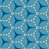 Retro Blue Hexagons