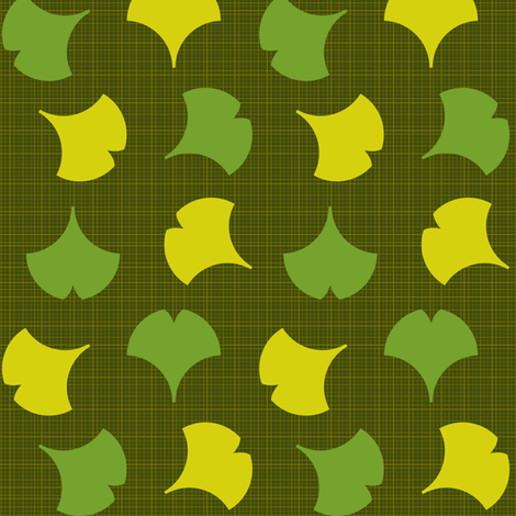 Spring Ginkgo 2B fabric by nekineko on Spoonflower - custom fabric
