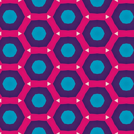 Retro Pink Hexagons fabric by stoflab on Spoonflower - custom fabric