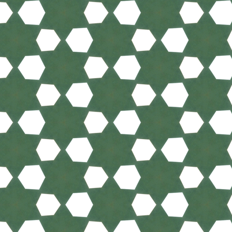 Retro Green Stars fabric by stoflab on Spoonflower - custom fabric