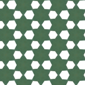 Retro Green Stars