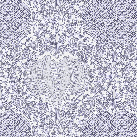 romano 36 curvy fabric by glimmericks on Spoonflower - custom fabric