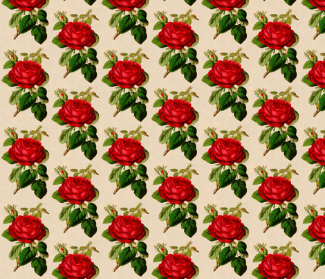 Red Rose fabric by victoriagolden on Spoonflower - custom fabric
