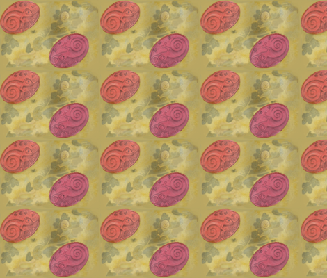 Chameleon cameo fabric by zandloopster on Spoonflower - custom fabric