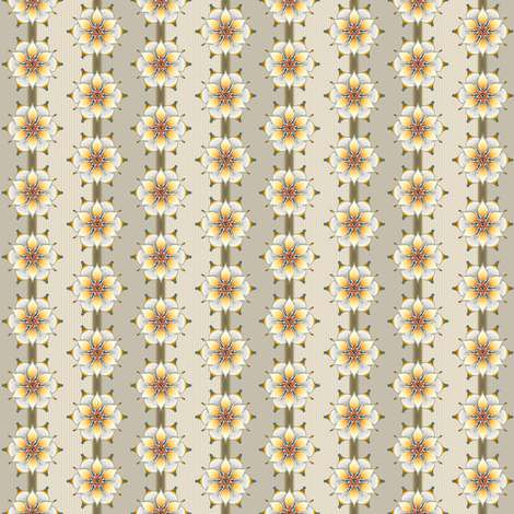 White Medallion stripe floral fabric by joanmclemore on Spoonflower - custom fabric