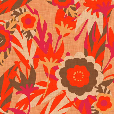 Hot Floral fabric by kezia on Spoonflower - custom fabric