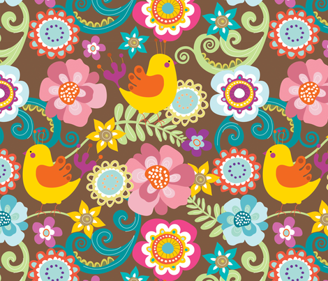 Chirpy 2 fabric by yuyu on Spoonflower - custom fabric