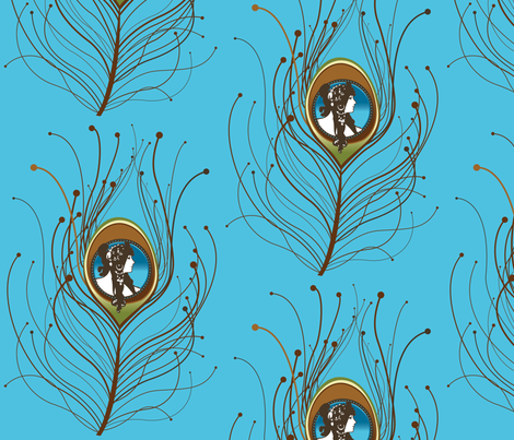 Art Nouveau Cameo fabric by annelize on Spoonflower - custom fabric