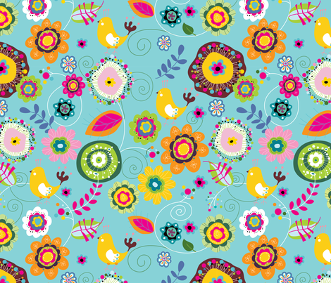 Chirpy 3 fabric by yuyu on Spoonflower - custom fabric