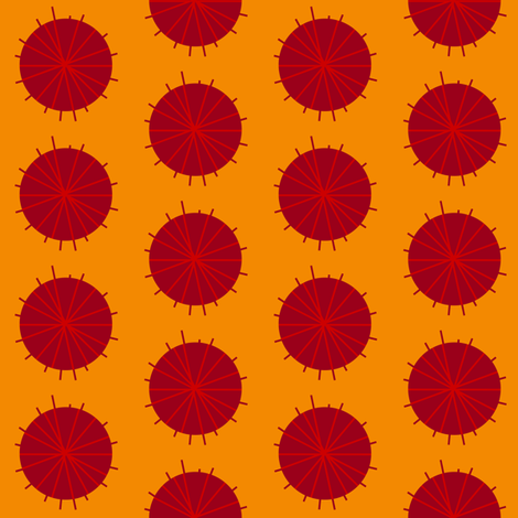 Red Bomb fabric by brainsarepretty on Spoonflower - custom fabric