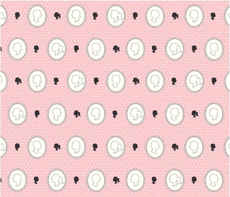 carolyndraws_cameos-3 fabric by carolyndraws on Spoonflower - custom fabric