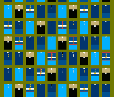 US Military Service Uniforms fabric by mongiesama on Spoonflower - custom fabric