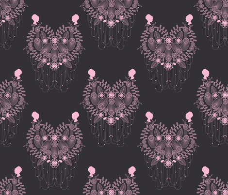 Crown Jewels pink fabric by danielle_b on Spoonflower - custom fabric
