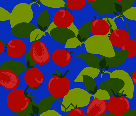 tomato basil fabric by marlene_pixley on Spoonflower - custom fabric